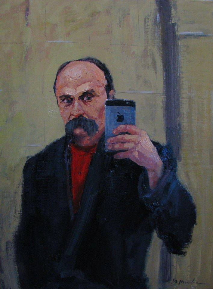 "Shevchenko as a member of the milennial generation (Y. Shapoval, ""Selfie"")"