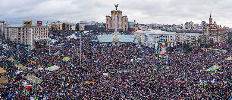 Euromaidan Mass Demonstration in Kyiv, December 2013. Source: http://nikvesti.com