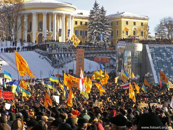 Mass Protests during the Orange Revolution. Kyiv, 2004. Source: https://espreso.tv